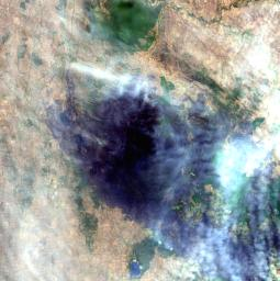 On February 17, 2009, NASA's Terra satellite imaged bushfires burning in Victoria Australia.