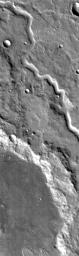 This is a 2001 Mars Odyssey THEMIS IR image of an unnamed channel in northwestern Terra Cimmeria.