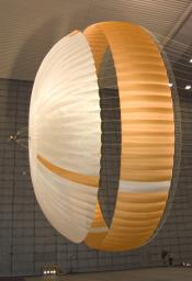 Large Parachute for NASA's Mars Science Laboratory