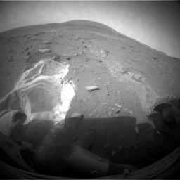 Spirit's Wheels Digging into Soft Ground, Sol 1899