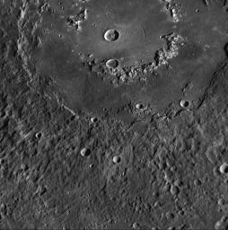 Raditladi basin, imaged during MESSENGER's first Mercury flyby and named 