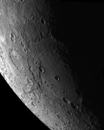 This mosaic was assembled using NAC images acquired as the MESSENGER spacecraft approached the planet during the mission's second Mercury flyby The Rembrandt impact basin is seen at the center of the mosaic.