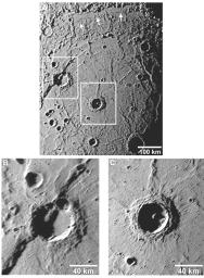 Details about the newly discovered Rembrandt impact basin were published recently in Science magazine, and the images shown here are from that article.