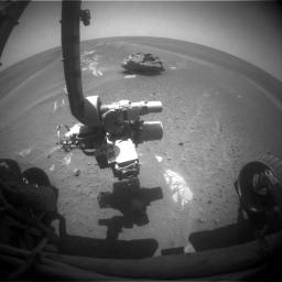 This image of 'Block Island' was taken on July 28, 2009, with the front hazard-identification camera on NASA�s Mars Exploration Rover Opportunity.