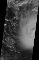 This image shows JPL's Multi-angle Imaging SpectroRadiometer instrument onboard NASA's Terra satellite on Sunday, Nov. 8, 2009 as it passed over Hurricane Ida while situated between western Cuba and the Yucatan Peninsula.