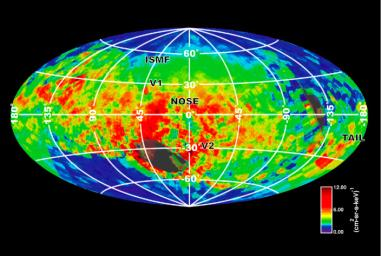 NASA's Cassini spacecraft created this image of the bubble around our solar system based on emissions of particles known as energetic neutral atoms.
