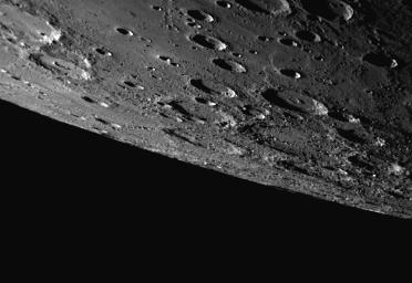 A Southern Horizon as Seen during Mercury Flyby 3