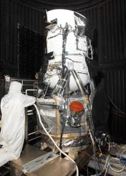 NASA's Wide-field Infrared Survey Explorer in the clean room at Ball Aerospace & Technologies Corp., in Boulder, Colo.