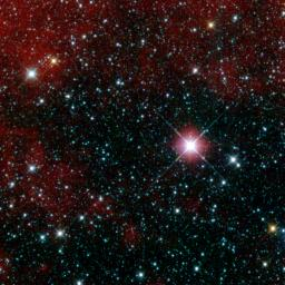 This infrared snapshot of a region in the constellation Carina near the Milky Way was taken shortly after NASA's Wide-field Infrared Survey Explorer ejected its cover. The 'first-lighy' picture shows thousands of stars and covers an area three times the s