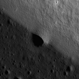 NASA's Lunar Reconnaissance Orbiter's looks at a mare-highlands boundary in northern Mare Frigoris.