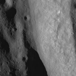 NASA's Lunar Reconnaissance Orbiter's looks at a terraced wall in Burg Crater.