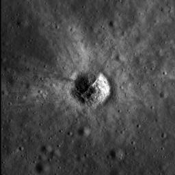 NASA's Lunar Reconnaissance Orbiter's sees bright crater rays and boulders.