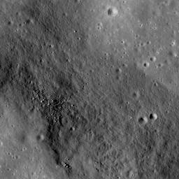 The linear rille Rima Ariadaeus is found on the nearside of the Moon, nestled between Mare Tranquillitatis and Mare Vaporum in this image taken by NASA's Lunar Reconnaissance Orbiter.