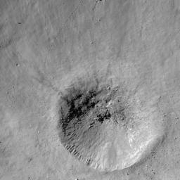 NASA's Lunar Reconnaissance Orbiter takes a look at a fresh crater on the southwest rim of Metius B crater.
