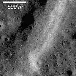 Graben are common extensional features on the Moon as well as the other terrestrial planets and icy satellites. This graben formed within a larger graben as captured by NASA's Lunar Reconnaissance Orbiter.