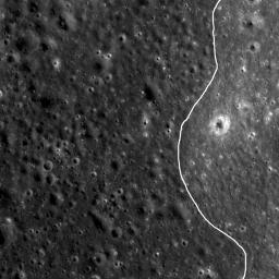 NASA's Lunar Reconnaissance Orbiter spied a very subtle mare-highlands boundary in Mare Moscoviense on the lunar farside, near the center of the Constellation Program region of interest.
