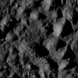 NASA's Lunar Reconnaissance Orbiter shows boulders and impact melt line the floor of the 85-km crater Tycho, a potential site for future human exploration.