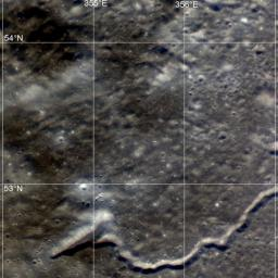 This image taken by NASA's Lunar Reconnaissance Orbiter shows a wide variety of geologic features on northwest of Plato crater.