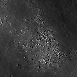This NASA Lunar Reconnaissance Orbiter shows boulders on a wrinkle ridge in Mare Crisium.