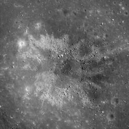 Materials excavated during formation of this ~450 m diameter impact crater have an unusual two-toned character, likely a reflection of heterogeneity in the target materials. This crater occurs in Balmer Basin. This image was taken by NASA's Lunar Reconnai