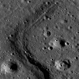 This high resolution image taken by NASA's Lunar Reconnaissance Orbiter shows the floor of the Apollo Basin, a large (538 km diameter) double-ringed impact crater in the southern hemisphere of the far side.