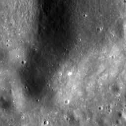 This NASA Lunar Reconnaissance Orbiter (LRO) image is of the summit crater of Hortensius Dome Phi. Summit craters of all the Hortensius Domes show no raised rims and are not circular, indicating they are analogous to volcanic calderas.