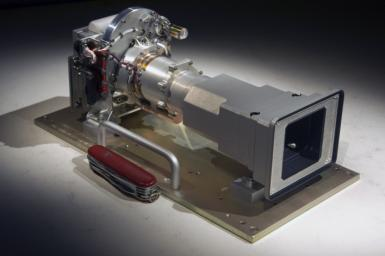 The Mast Camera (Mastcam) instrument for NASA's Mars Science Laboratory will use a side-by side pair of cameras for examining terrain around the mission's rover, Curiosity. The Mastcam 34 offers wider-angle viewing.