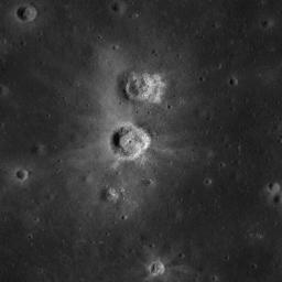 The unusual shapes of craters at the Flamsteed Constellation region of interest provide information about the thickness of the lunar regolith in this region in this image taken by NASA's Lunar Reconnaissance Orbiter.