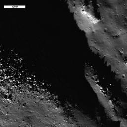 Exposed Fractured Bedrock in the Central Peak of the Anaxagoras Crater