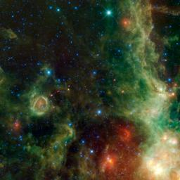 This image from NASA's Wide-field Infrared Survey Explorer, or WISE, is a view within the constellation Cassiopeia of another portion of the vast star forming complex that makes up part of the Perseus spiral arm of the Milky Way Galaxy.