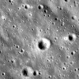 NASA's Lunar Reconnaissance Orbiter shows highlands terrain inside the Dante Crater.