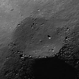 NASA's Lunar Reconnaissance Orbiter captured this image of the floor of a l.2-km diameter crater in the Mare Frigoris.