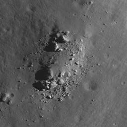 NASA's Lunar Reconnaissance Orbiter captured this image of the floor of a crater in the Mare Frigoris.