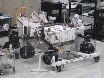 Mars rover Curiosity, the centerpiece of NASA's Mars Science Laboratory mission, is coming together for extensive testing prior to its late 2011 launch.