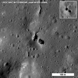 Natural Bridge on the Moon