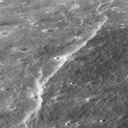 Slipher Crater: Fractured Moon in 3-D