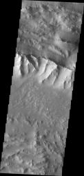 This image captured by NASA's Mars Odyssey shows a portion of Coprates Chasma.