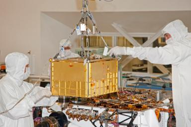 NASA's Sample Analysis at Mars (SAM) instrument, largest of the 10 science instruments for NASA's Mars Science Laboratory mission, will examine samples of Martian rocks, soil and atmosphere for information about chemicals that are important to life.