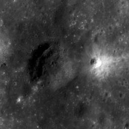 Dark Halo Crater in Orientale