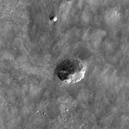 Boulder in Recht Crater