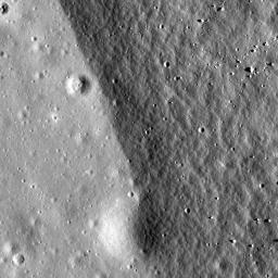 Crater rim of Flamsteed P