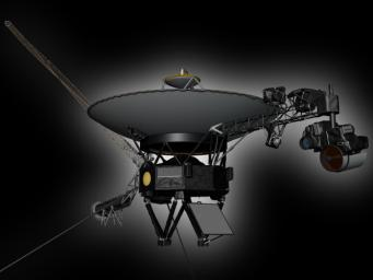 This artist's rendering shows NASA's Voyager spacecraft. Voyager 2 was launched on Aug. 20, 1977. Voyager 1 was launched on Sept. 5, 1977.