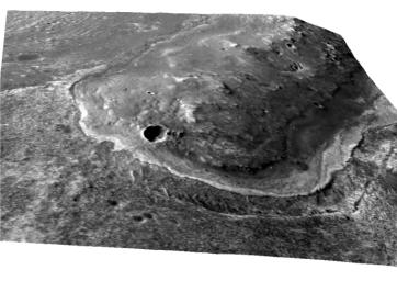 This image shows the portion of the rim of Endeavour crater given the informal name 'Spirit Point.' This is the location where the team operating NASA's Mars Exploration Rover Opportunity plans to drive the rover to its arrival at the Endeavour rim.