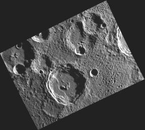 A View of Camoes in Mercury's South Polar Region