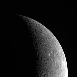 Crescent View of Mercury