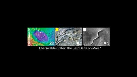 Eberswalde Crater, a Finalist Not Selected as Landing Site for Curiosity