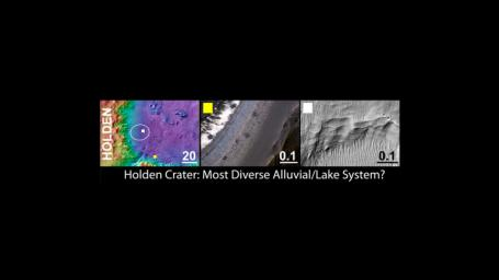 Holden Crater, a Finalist Not Selected as Landing Site for Curiosity