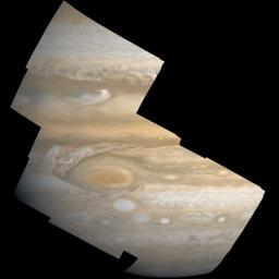 Data from the camera onboard NASA's Juno mission, called JunoCam, will be made available to the public for processing into their own images. Illustrated here with an image of Jupiter taken by NASA's Voyager mission.
