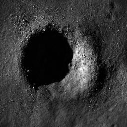 Bouldery Crater near Mare Australe