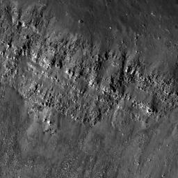 Lava Flows Exposed in Bessel Crater